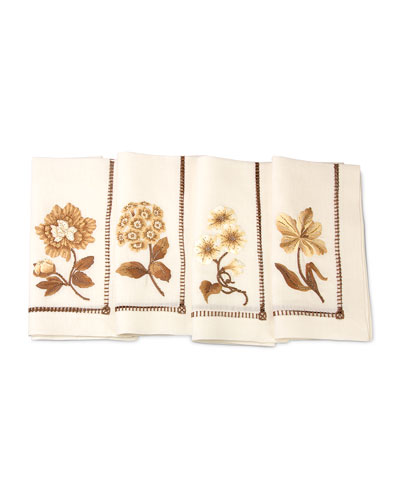 Floral Dinner Napkins  4-Piece Set