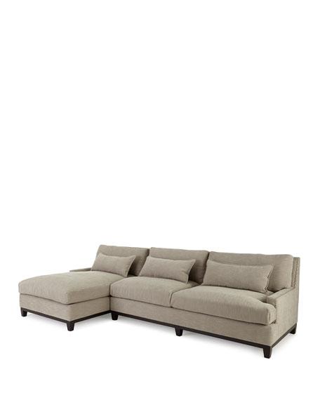 """Rena Left-Facing Sectional Sofa 129.5"""""""