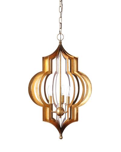 Pattern Makers Large Golden 3-Light Pendant