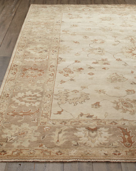 Exquisite Rugs Sandy Vines Oushak Rug, 6' x 9'