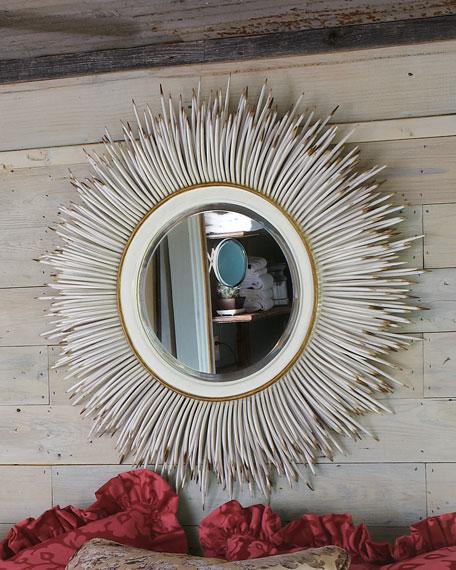"Janice Minor White ""Porcupine Quill"" Mirror"