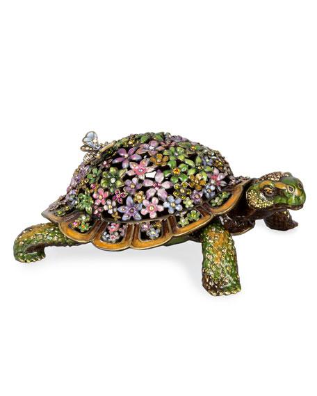 Jay Strongwater Milton Mille Fiori Turtle Box