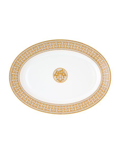 Herm?s Mosaique au 24 Large Oval Platter