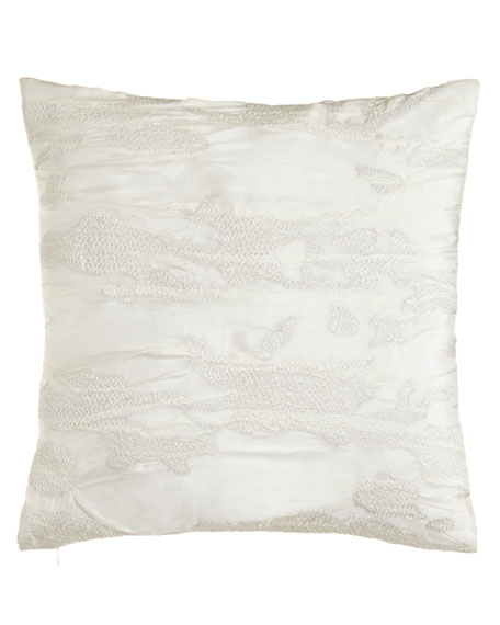 "Reflection Embroidered Pillow, 18""Sq."