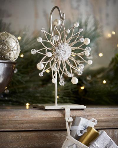 Pearl Sunburst Christmas Stocking Holder
