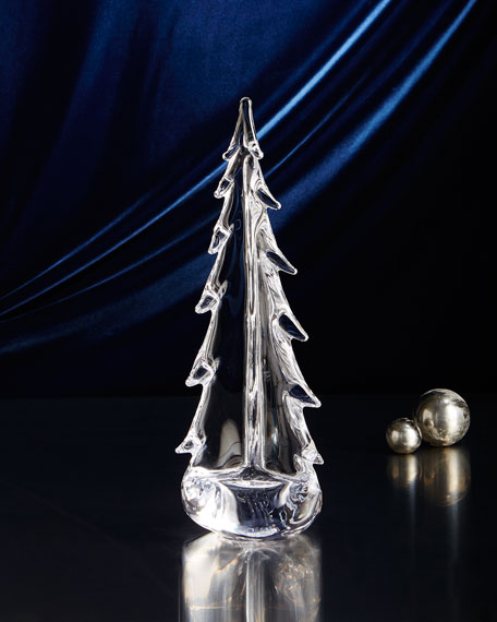 "Evergreen 14"" Glass Tree"