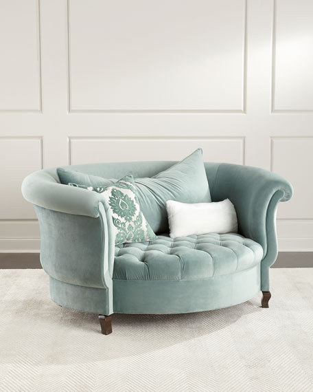 Haute House Harlow Sage Cuddle Chair