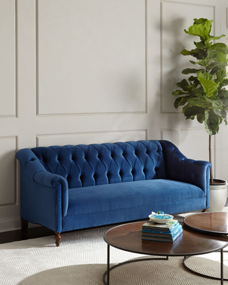 Attirant Raina Tufted Velvet Sofa