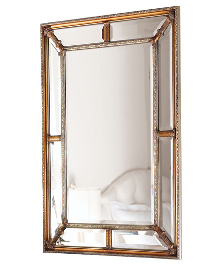 John-Richard Collection Beveled-Frame Mirror
