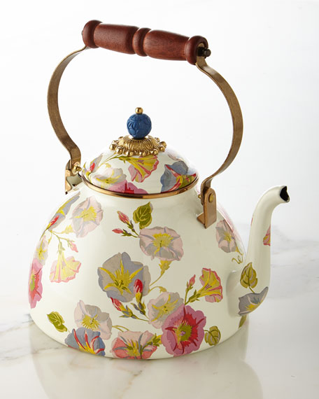 MacKenzie-Childs Morning Glory 3-Quart Tea Kettle