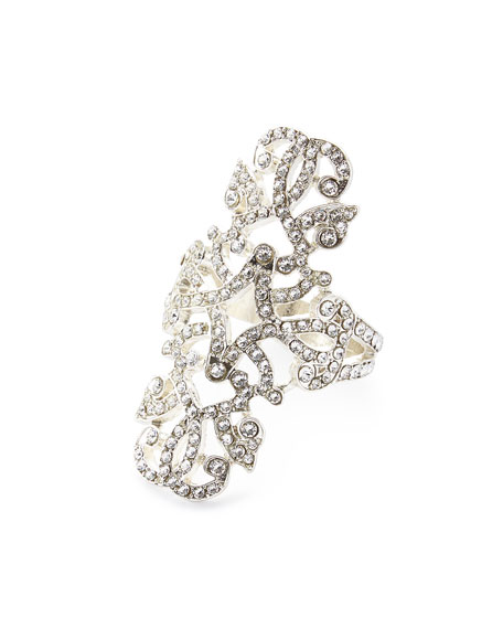 Swarovski® Crystal Engagement Napkin Ring, Set of Four, Silver
