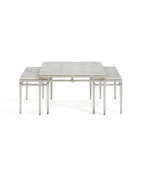 John-Richard Collection Kelso Stone Nesting Tables
