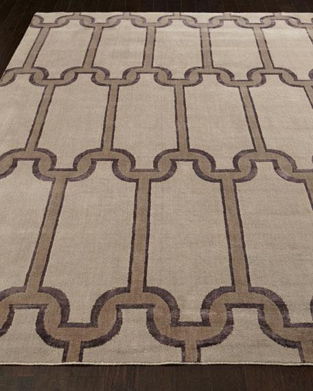 Travertine Links Rug, 4' x 6'