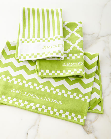 MacKenzie-Childs Key Lime Dish Towels, Set of 3