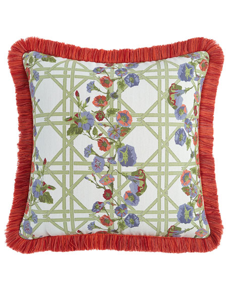 MacKenzie-Childs Morning Glory Spindle Outdoor Cushion