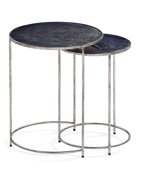 Interlude Home Cyder Round Nesting Tables, Set of 2