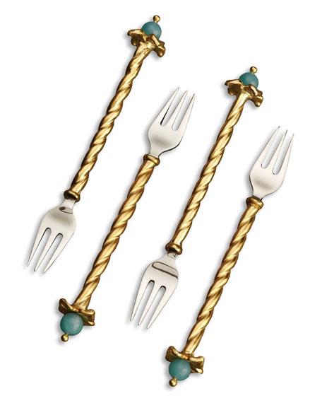 Venise Cocktail Forks, Set of Four