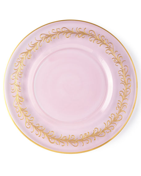 Blush Oro Bello Charger Plates, Set of 4