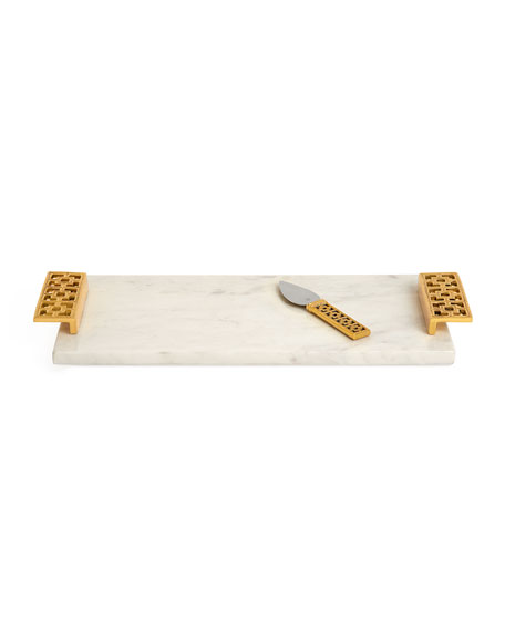 Image 1 of 3: Jonathan Adler Nixon Cheeseboard and Knife Set