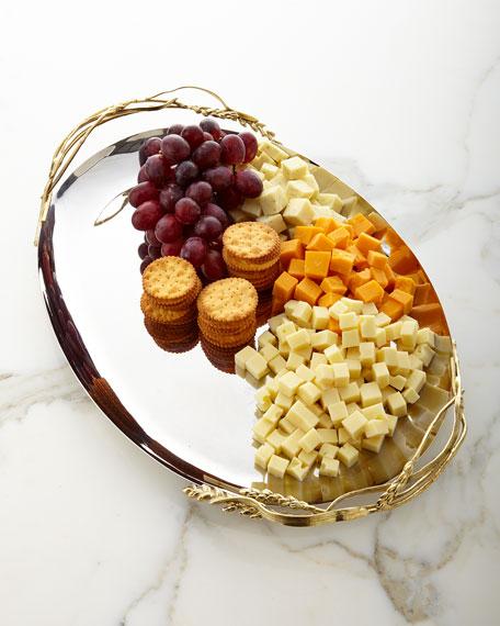 Michael Aram Wheat Oval Serving Platter