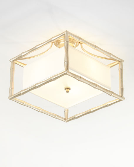 Crystorama Masefield 3-Light Antiqued Silver Ceiling Mount