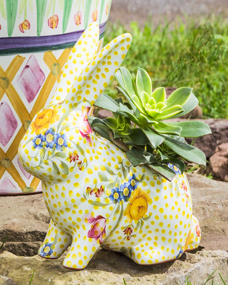 MacKenzie-Childs Rabbit Planter