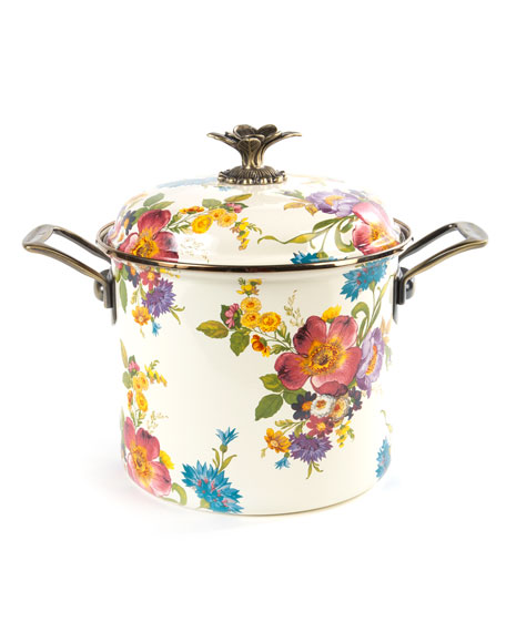 MacKenzie-Childs Flower Market 7-Quart Stockpot