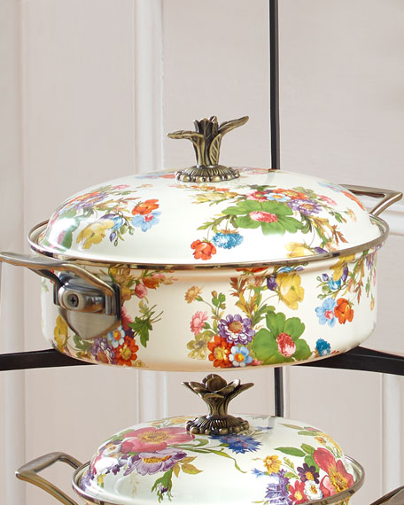 MacKenzie-Childs Flower Market 5-Quart Lidded Casserole