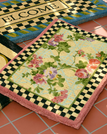 MacKenzie-Childs Morning Glory Entrance Doormat