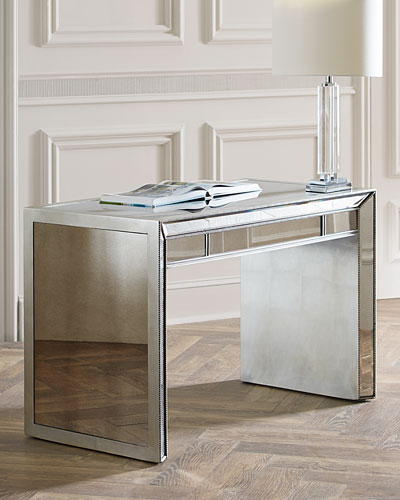 Keane Mirrored Writing Desk