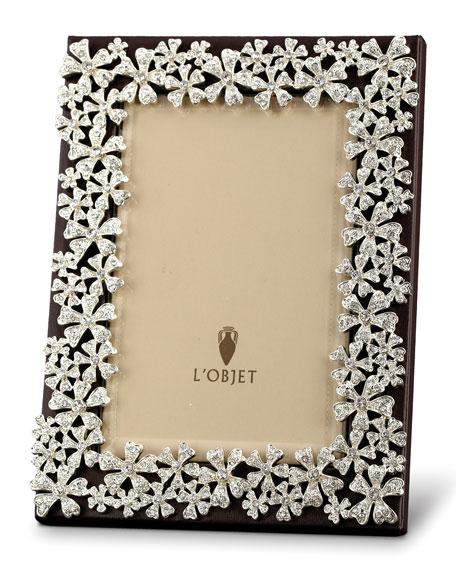 Platinum-Plated Swarovski® Crystal Garland Frame, 4 x 6