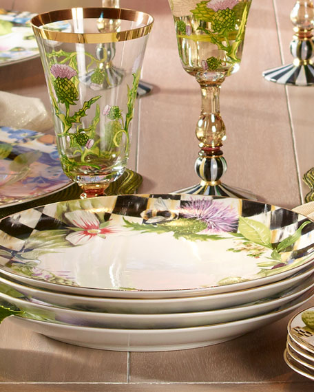 Garland Thistle & Bee Dinner Plate