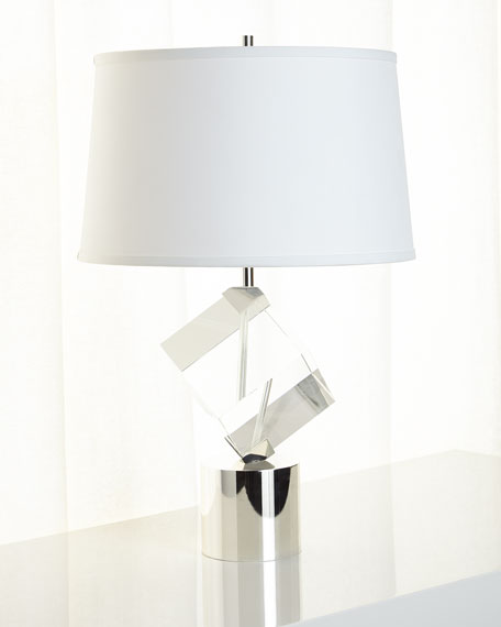 John-Richard Collection Crystal-Cube Table Lamp