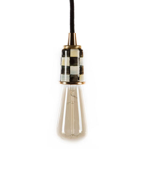 MacKenzie-Childs Black Mini Pendant Light
