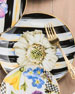 Image 1 of 2: MacKenzie-Childs The Bride Thistle & Bee Salad Plate