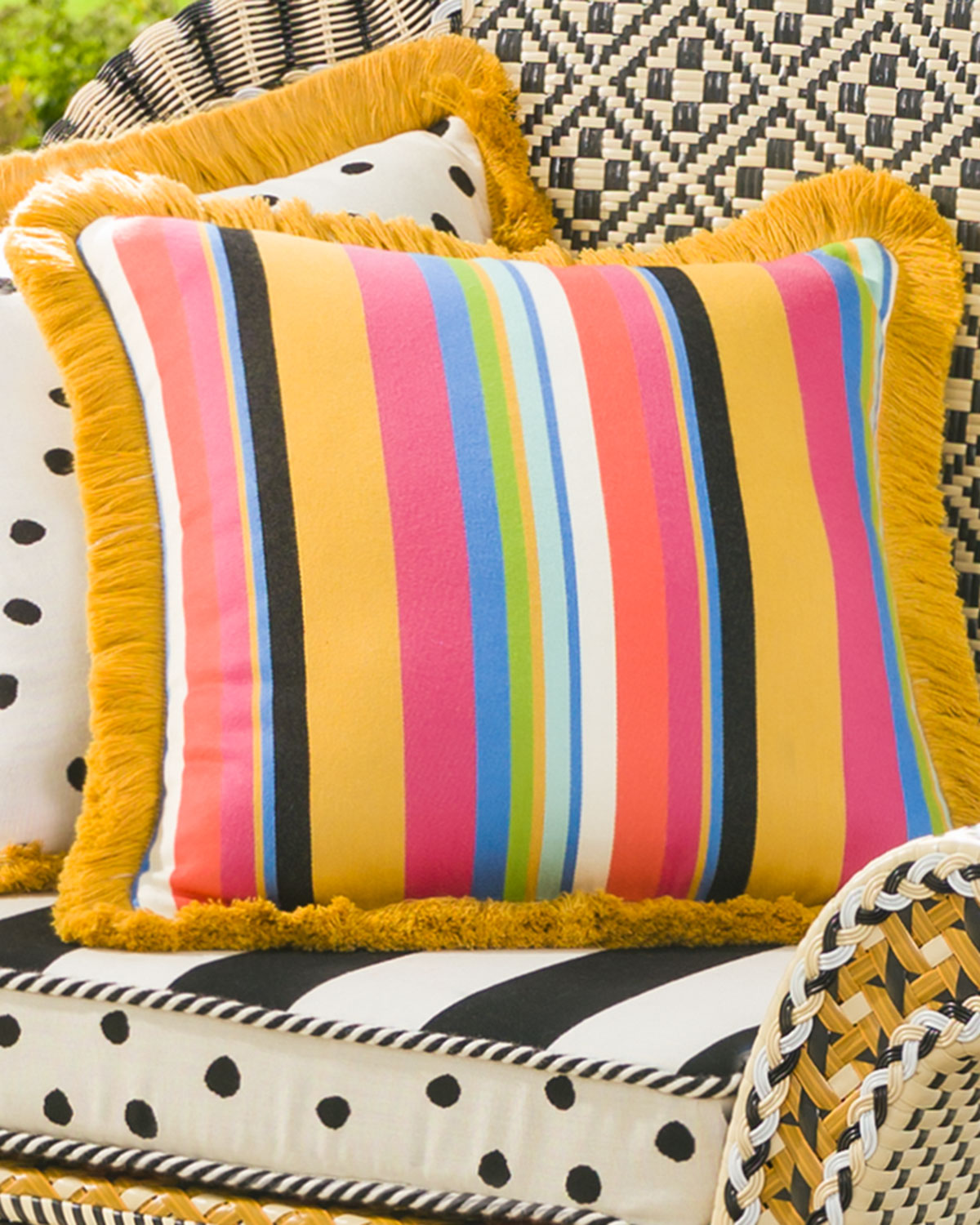 Mackenzie Childs Courtyard Outdoor Throw Pillow Neiman Marcus