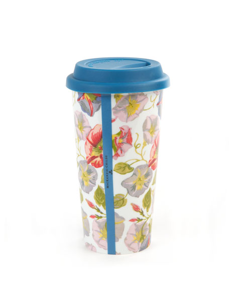 MacKenzie-Childs Morning Glory Travel Cup