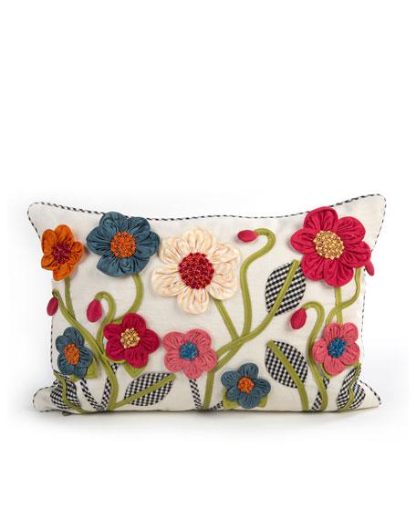 Short Tic-Tac-Posie Lumbar Pillow