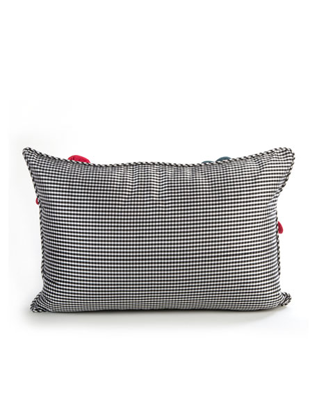 Short Tic-Tac-Posie Lumbar Pillow