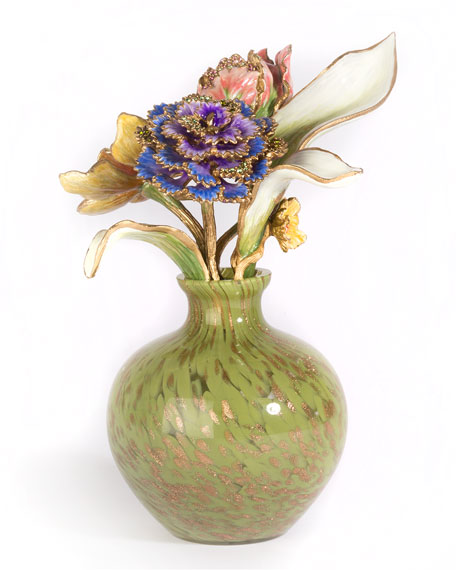 Jay Strongwater Selina Floral Objet