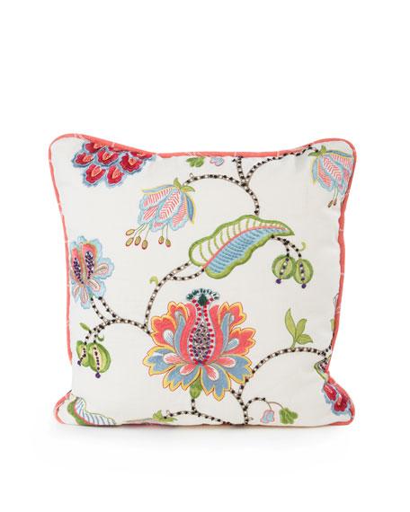 "Chelsea Garden Pillow, 20""Sq."