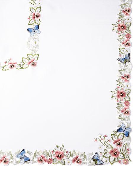 "Monarch 72"" x 90"" Tablecloth & 8 Napkins"