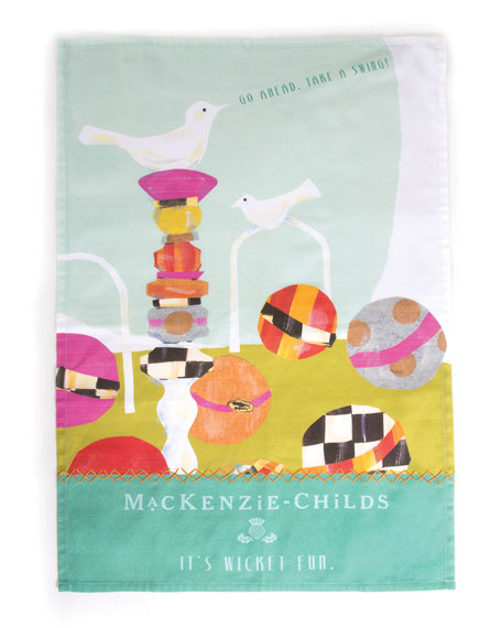 MacKenzie-Childs It's Wicket Fun Tea Towel