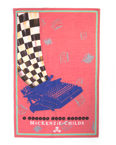 MacKenzie-Childs Old School Type Tea Towel