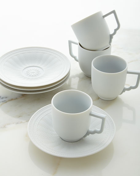 Michael Aram Palace Demitasse Cup and Saucer, Set of 4