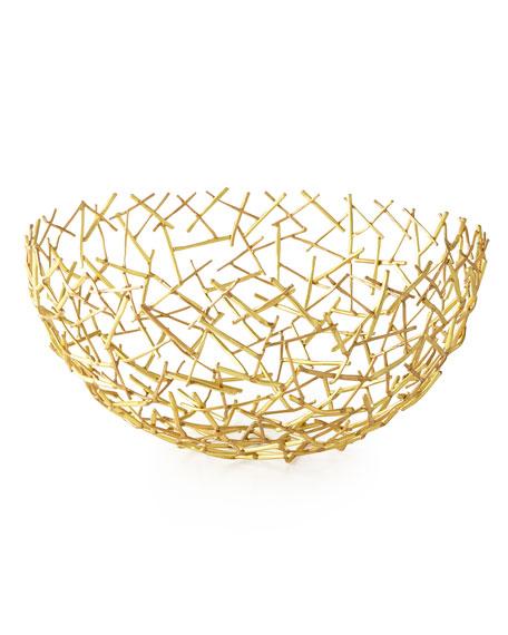 Michael Aram Decorative Thatch Bowl, Large