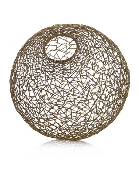 Michael Aram Decorative Thatch Ball, Medium