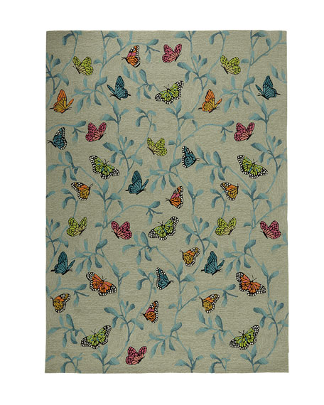 "Butterfly Blossom Indoor/Outdoor Mat, 3'6"" x 5'6"""