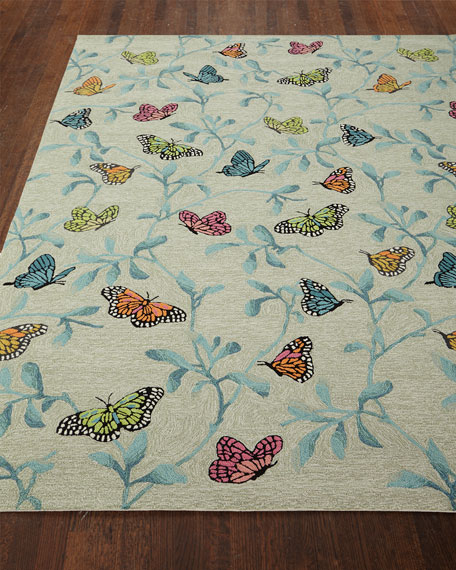 Butterfly Blossom Indoor/Outdoor Rug, 5' x 7'6""