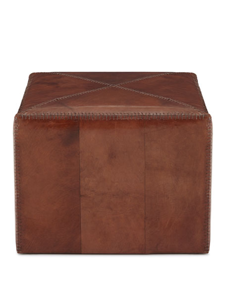 Jamie Young Boland Large Leather Ottoman